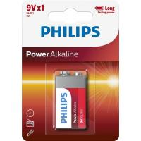 Батарейка PHILIPS Крона 6LR61 Power Alkaline * 1 (6LR61P1B/10)