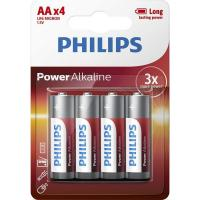 Батарейка PHILIPS AA LR6 Power Alkaline * 4 (LR6P4B/10)