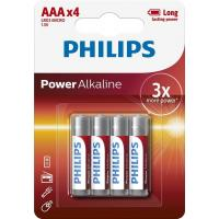 Батарейка PHILIPS AAA LR03 Power Alkaline * 4 (LR03P4B/10)