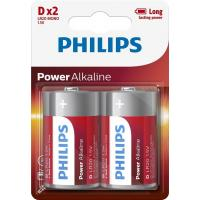 Батарейка PHILIPS D LR20 Power Alkaline * 2 (LR20P2B/10)