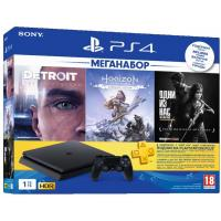 Игровая консоль SONY PlayStation 4 Slim 1TB HZD+DET+The Last of Us+PSPlus 3М (9926009)
