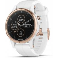 Смарт-часы Garmin Fenix 5S Plus Sapphire Rose Gold with White Silicone Band (010-01987-07)