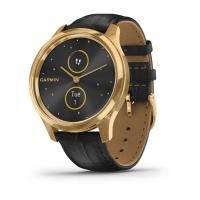 Смарт-часы Garmin Vivomove Luxe 24K Gold PVD Stainless Steel Case with Black E (010-02241-22/02)