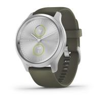 Смарт-часы Garmin Vivomove Style Silver Aluminum Case with Moss Silicone Band (010-02240-21/01)