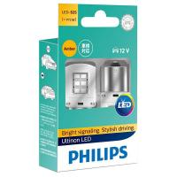 Автолампа PHILIPS PY21W Yellow+SmartCanbus Ultinon 12V, 2шт/бл. (11498ULAX2)