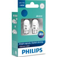 Автолампа PHILIPS W5W Ultinon LED, 4000K 12V, 2шт/бл. (11961ULW4X2)