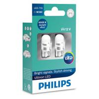Автолампа PHILIPS W5W Ultinon LED, 6000K 12V, 2шт/бл. (11961ULWX2)