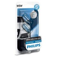 Автолампа PHILIPS W5W WhiteVision, 2шт/бл. (12961NBVB2)