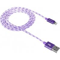 Дата кабель USB 2.0 AM to Lightning 1.0m Purple CANYON (CNE-CFI3P)