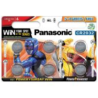 Батарейка PANASONIC CR 2032 Lithium * 6 Power Rangers (CR-2032EL/6BPR)
