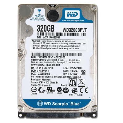 """Western Digital 2.5/"""" SATA 320GB 5400RPM HDD Laptop Hard Drive WD3200BEKT-75PVMT1"""